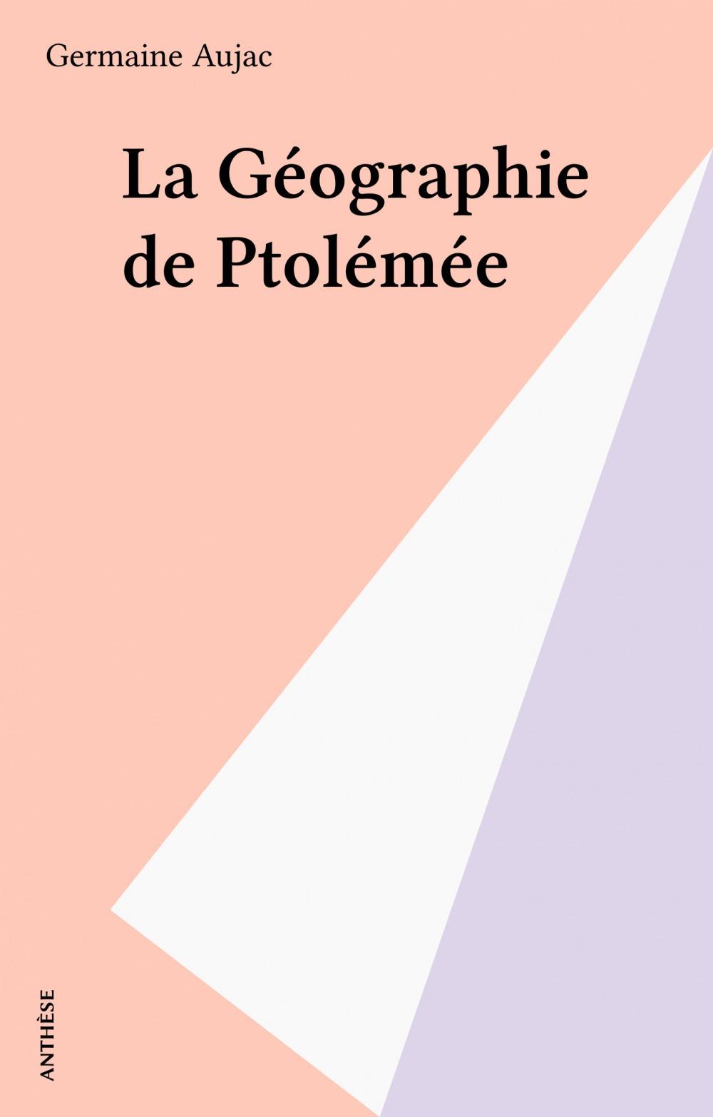 La geographie de ptolemee