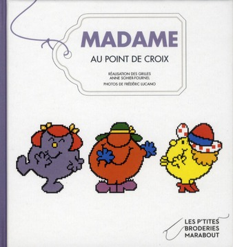 Madame au point de croix
