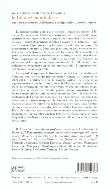 La finance mondialisee racines sociales et politiques, configuration, consequences