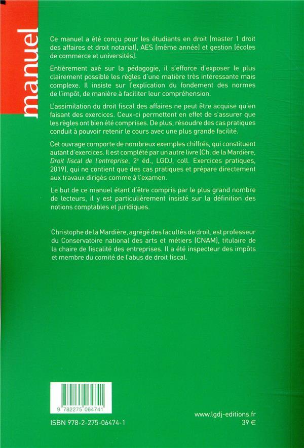 droit fiscal de l'entreprise (édition 2019/2020)