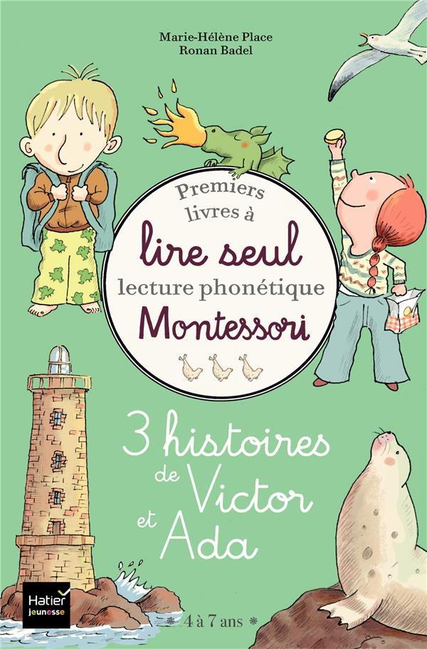 Coffret premiers livres à lire seul ; 3 histoires de Victor et Ada - niveau 3 + pédagogie Montessori