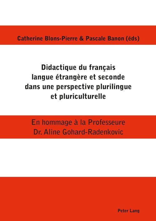 Didactique du francais langue etrangere et seconde dans une perspective plurilingue et pluriculturel