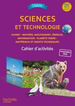 Citadelle ; sciences ; CM1 ; cahier de l'élève (édition 2018)