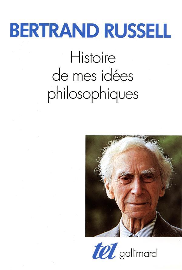 Histoire de mes idees philosophiques