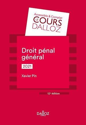 Droit pénal général (édition 2021)
