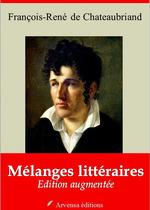 Vente Livre Numérique : Mélanges littéraires - suivi d'annexes  - François-René de Chateaubriand