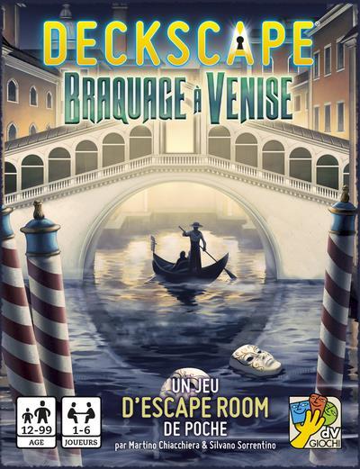 Deckscape ; braquage à Venise ; un jeu d'escape room de poche