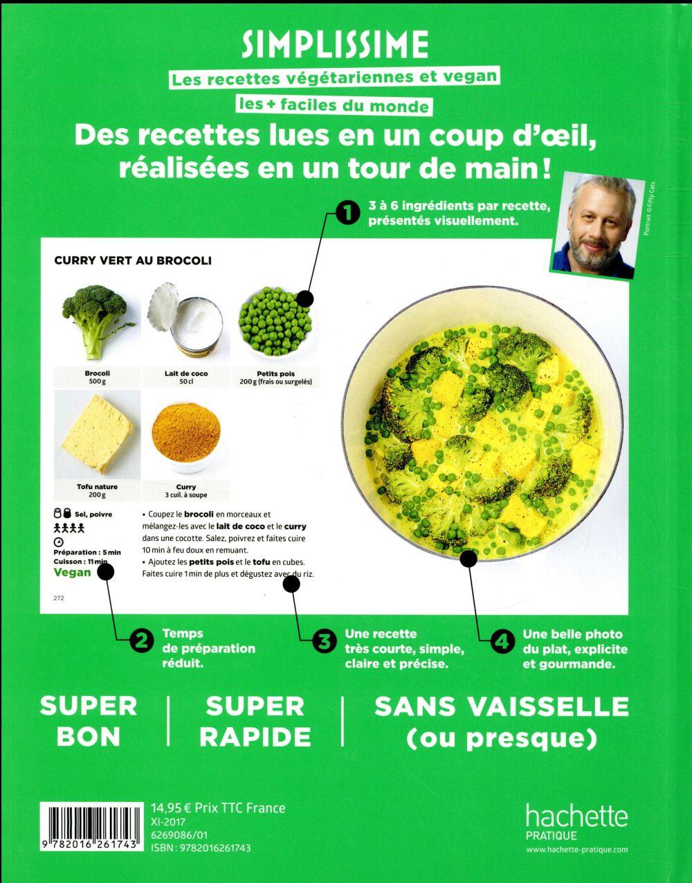 Simplissime ; les recettes végétariennes et vegan les + faciles du monde