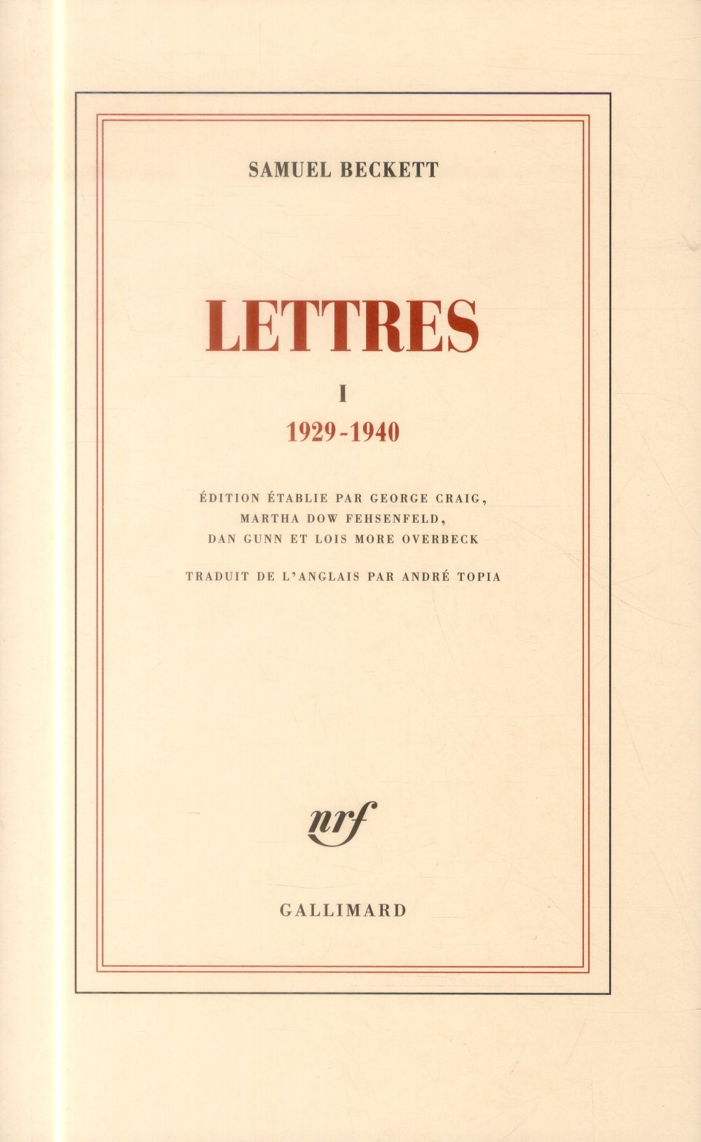 Lettres t.1 ; 1929-1940