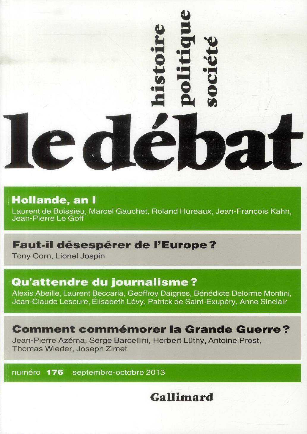 Revue le debat ; septembre-octobre 2013