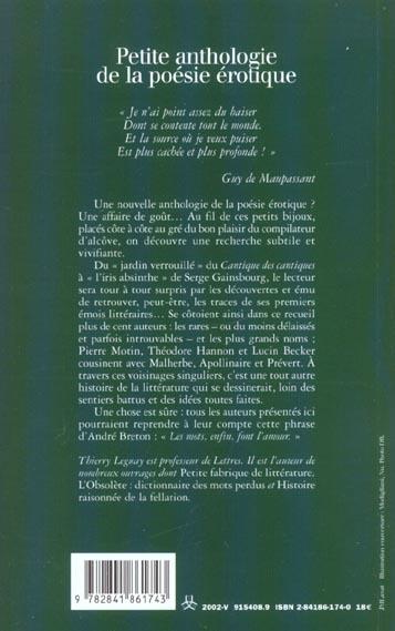Petite anthologie de la poesie erotique