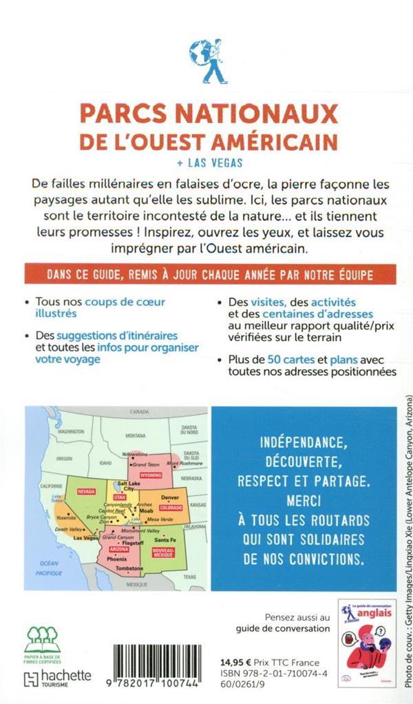 Guide du Routard ; parcs nationaux de l'Ouest américain ; + Las Vegas (édition 2020)