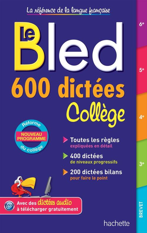 Bled ; 600 dictées ; collège