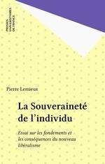 Vente Livre Numérique : La Souveraineté de l'individu  - Pierre Lemieux