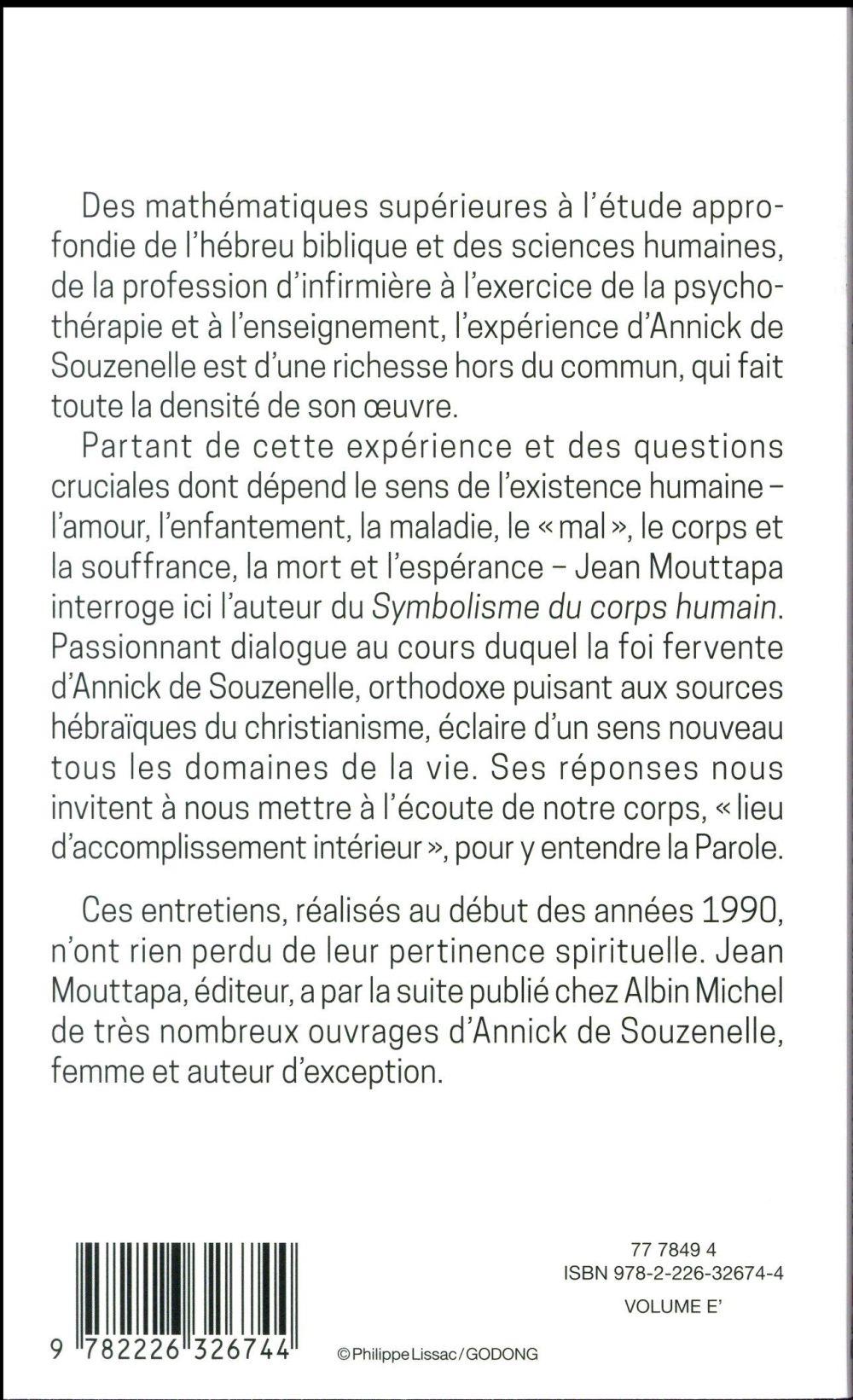 La parole au coeur du corps ; entretiens avec Jean Mouttapa (édition 2017)
