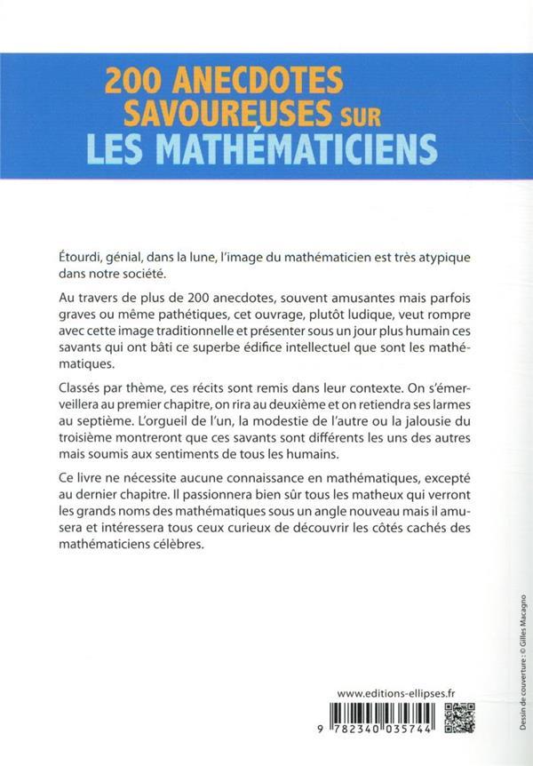 200 anecdotes savoureuses sur les mathematiciens