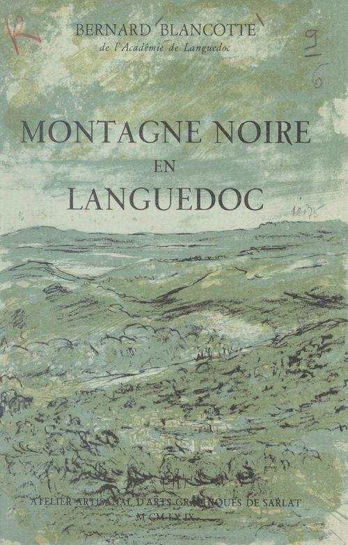 Montagne noire en Languedoc
