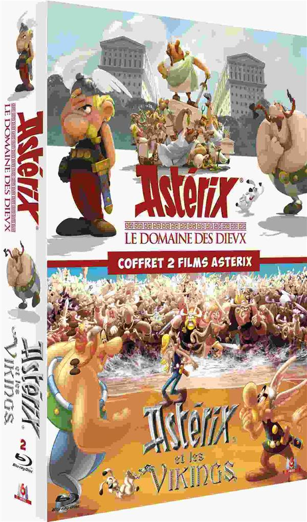 Coffret 2 films Astérix - Le Domaine des Dieux + Astérix et les Vikings