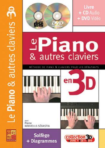 Le piano et autres claviers en 3D ; solfèges + tablatures