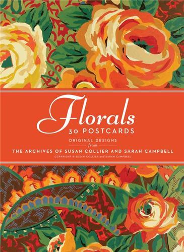 30 postcards collier campbell floral