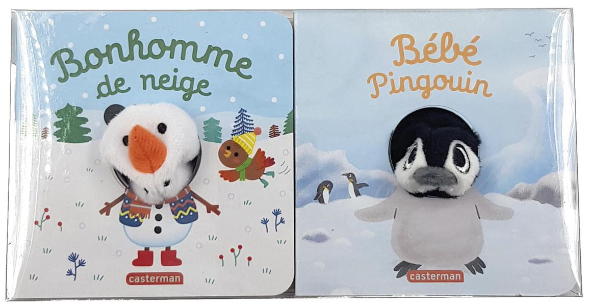 Bonhomme de neige, bébé pingouin ; coffret hiver