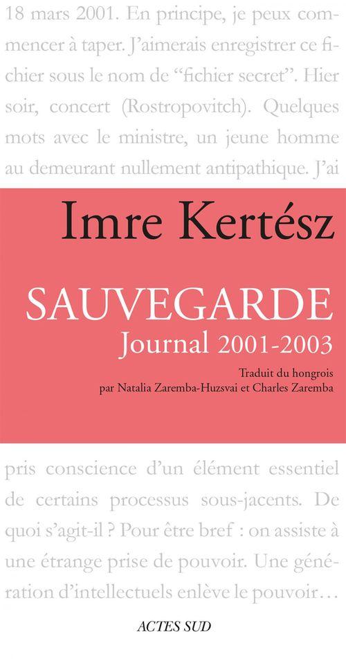 sauvegarde ; journal 2001-2003