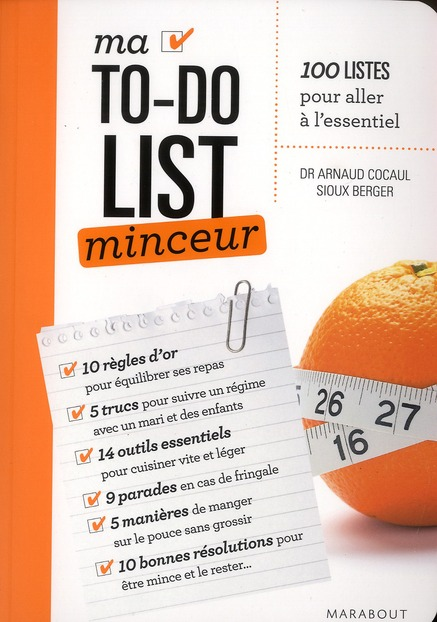 Ma To-Do List ; Minceur