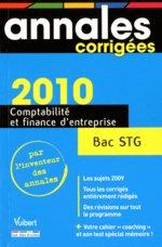annales corrigées ; bac comptabilité et finance d'entreprise (édition 2010)