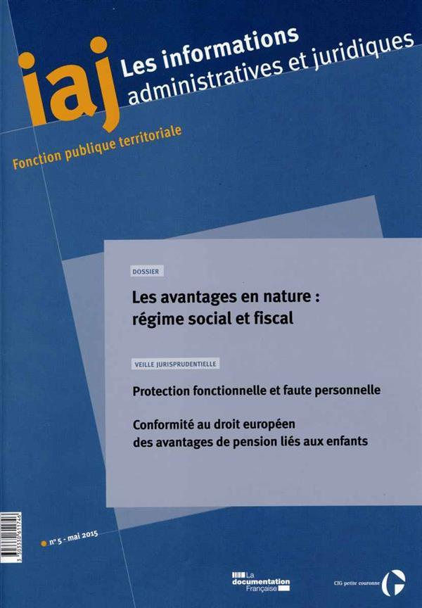 Les avantages en nature - n 05-2015