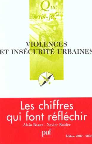 Violences et insecurite urbaines (8e ed)