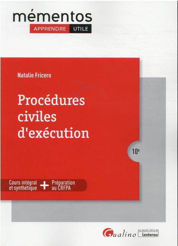 procédures civiles d'exécution (10e édition)