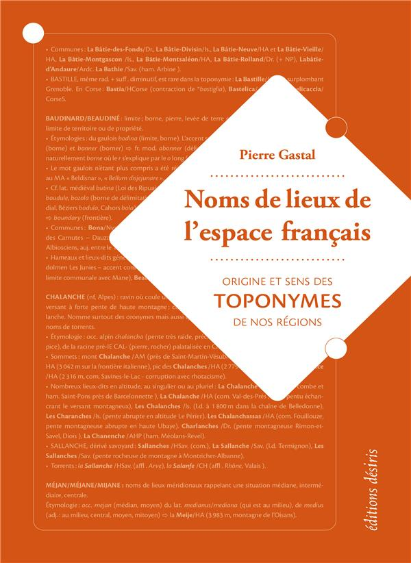Noms de lieux de l'espace français