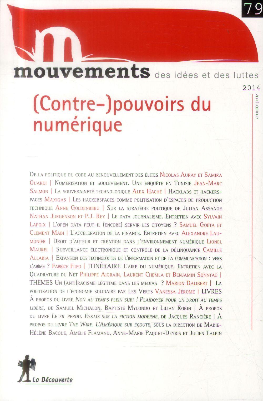 Revue mouvements t.79; (contre-)pouvoirs du numerique