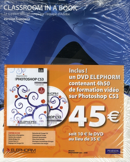 Adobe photoshop cs3 + dvd elephorm