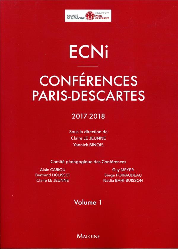 ECNI - conférences Paris-Descartes - t.1 (édition 2017/2018)