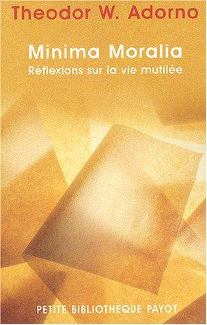 Minima moralia-1ere edition