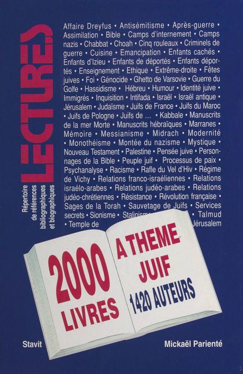 Deux mille titres à thème juif parus en français entre 1989 et 1995