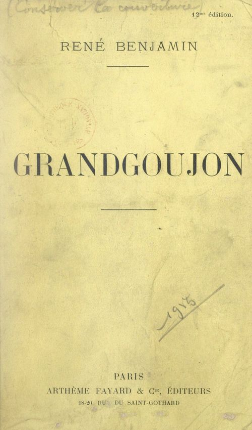 Grandgoujon  - Rene Benjamin