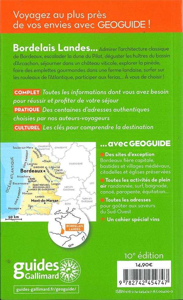 GEOguide ; bordelais ; Landes ; bassin d'Arcachon (édition 2019)