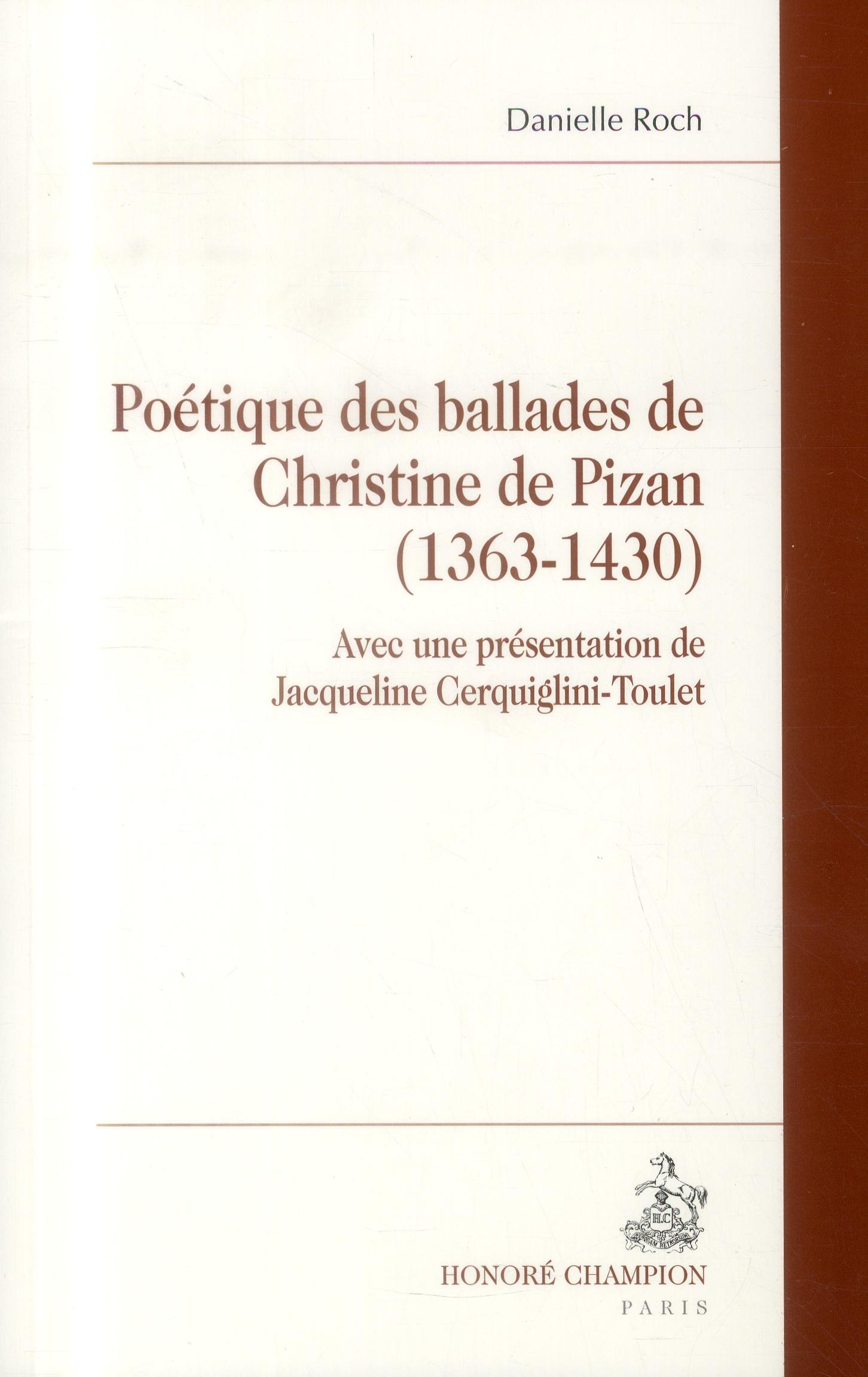 Poétique des ballades de Christine de Pizan (1363-1430)