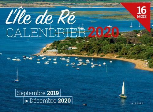 calendrier 2020 ; l'Ile de Ré