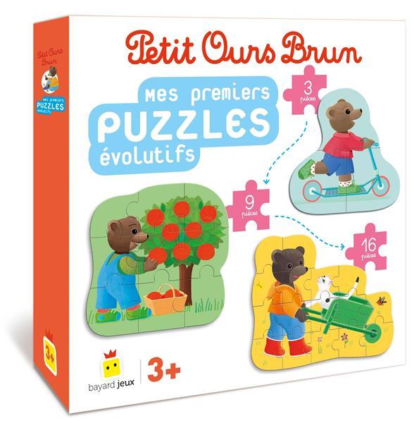 Petit Ours Brun ; mes premiers puzzles évolutifs