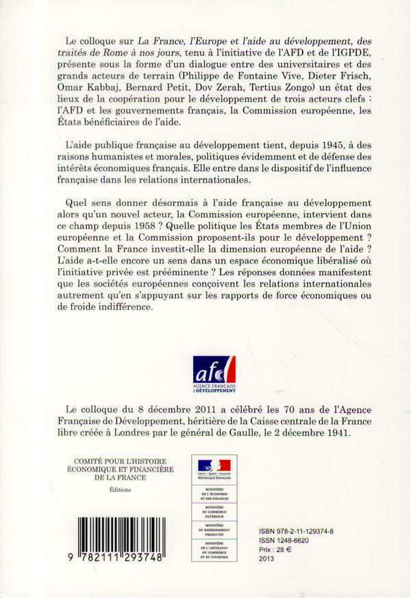 La France, l'Europe et l'aide au développement ; des traités de Rome à nos jours
