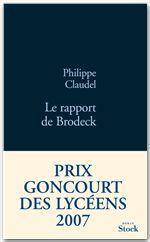 Vente Livre Numérique : Le rapport de Brodeck  - Philippe Claudel