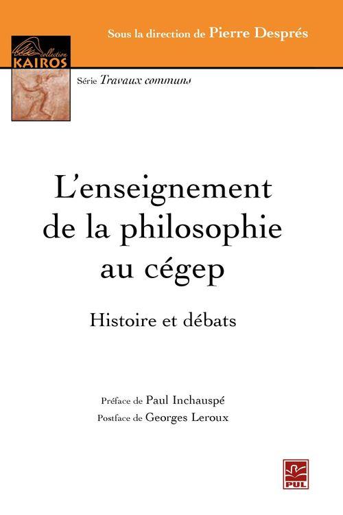 L'enseignement de la philosophie au cegep