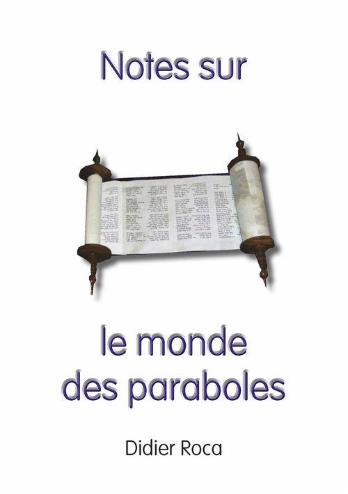Notes sur le monde des paraboles