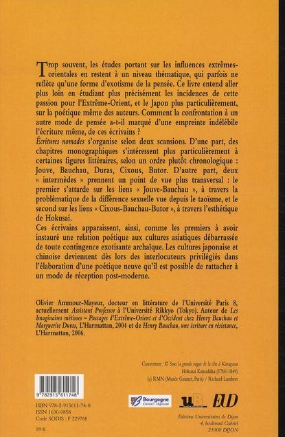 écritures nomades : écrivains français et Extrême-Orient