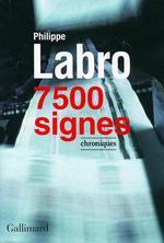 Vente EBooks : 7 500 signes  - Philippe Labro