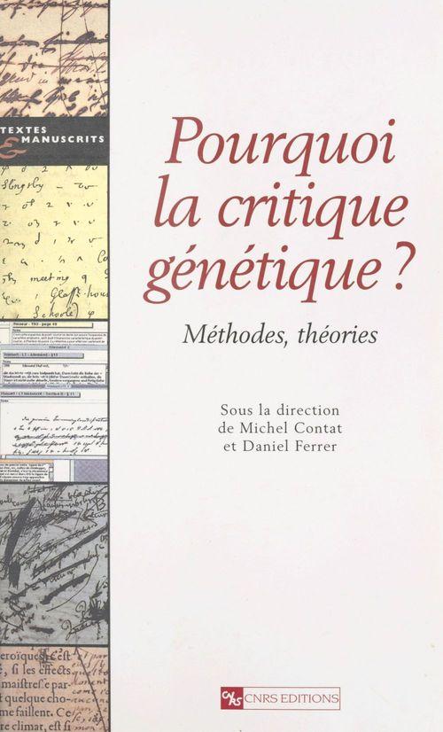 La genetique textuelle et son objet