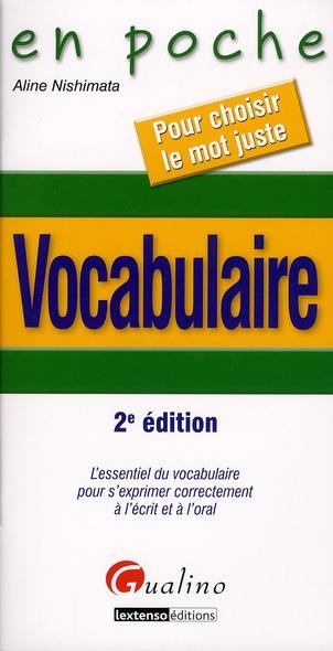 Vocabulaire (2e édition)